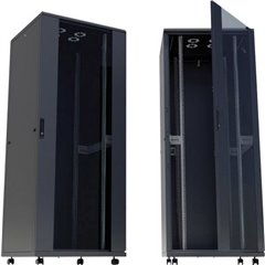Armadio rack di rete da 19 (L x A x P) 600 x 2057 x 800 mm 42 HE Nero (RAL 9005)