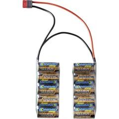 Batteria ricaricabile NiMh 12 V 2400 mAh Numero di celle: 10 Side by Side Sistema a spina a T