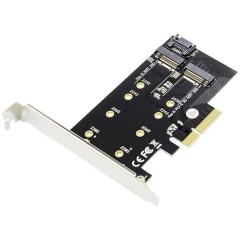 2+1 Porta Scheda PCI Express x8 per M.2 SSD PCIe
