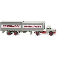 H0 Magirus Deutz Treno a sella per container Seawheel