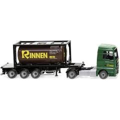 H0 MAN TGX paranco per container cisterna Rinnen