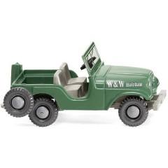 H0 Jeep W & W in legno