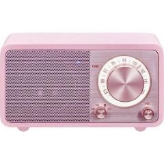 WR-7 Genuine Mini Radio da tavolo FM Bluetooth ricaricabile Rosa