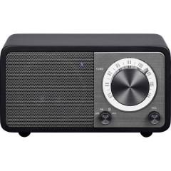 WR-7 Genuine Mini Radio da tavolo FM Bluetooth ricaricabile Nero
