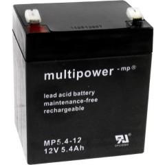 multipower PB-12-5,4-4,8 Batteria al piombo 12 V 5.4 Ah Piombo-AGM (L x A x P) 90 x 107 x 70 mm Spina piatta