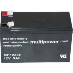 multipower PB-12-9-6,35 Batteria al piombo 12 V 9 Ah Piombo-AGM (L x A x P) 151 x 102 x 65 mm Spina piatta 6,35