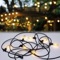 Paulmann Classic Lichterkette Sistema dilluminazione Plug&Shine LED (monocolore) 14 W Bianco caldo Vintage Nero