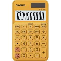 Casio Calcolatrice tascabile Arancione Display (cifre): 10 a energia solare, a batteria (L x A x P) 70 x 8 x