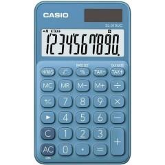 Casio Calcolatrice tascabile Blu Display (cifre): 10 a energia solare, a batteria (L x A x P) 70 x 8 x 118