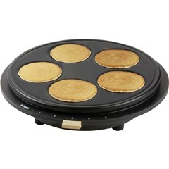 DOMO Piastra per pancake Rivestimento antiaderente, Spia luminosa Nero