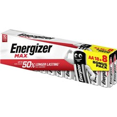 Energizer Max 18+8 gratis Batteria Stilo (AA) Alcalina/manganese 1.5 V 1 pz.