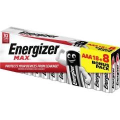 Energizer Max 18+8 gratis Batteria Ministilo (AAA) Alcalina/manganese 1.5 V 26 pz.