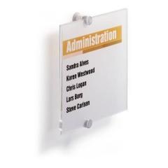 Durable Insegna della porta (L x A) 210 mm x 210 mm Trasparente