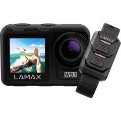 Lamax W9.1 Action camera 4K, con stativo, Impermeabile, Cronometraggio, Rallentatore, Antiurto, WLAN, Dual-Display