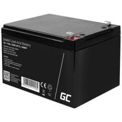 Green Cell Batteria al piombo 12 V 7 Ah Piombo-AGM (L x A x P) 151 x 95 x 65 mm Spina piatta 6,35 mm Ciclica,