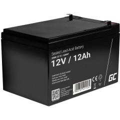 Green Cell Batteria al piombo 12 V 12 Ah Piombo-AGM (L x A x P) 151 x 95 x 98 mm Spina piatta 6,35 mm Ciclica,