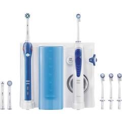 Oral-B Pro 2000 + OxyJet Spazzolino da denti elettrico, Irrigatore orale Bianco, Blu scuro