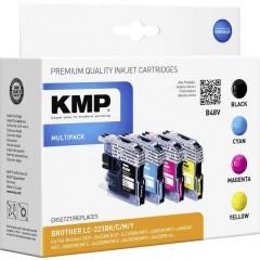 KMP Cartuccia Compatibile sostituisce Brother LC-223 Imballo multiplo Nero, Ciano, Magenta, Giallo B48V