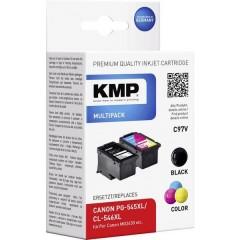 KMP Cartucce combo pack Compatibile sostituisce Canon PG-545XL, CL-546XL Nero, Ciano, Magenta, Giallo C97V