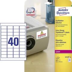 Avery-Zweckform Etichette 45.7 x 25.4 mm Pellicola in poliestere Bianco 800 pz. Permanente Etichetta super