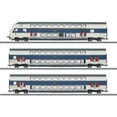 Märklin Kit di 3 vagoni a due piani H0 della DSB