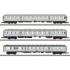 Märklin Kit di 3 vagoni per il trasporto locale Silberling di DB, MHI