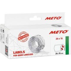 METO Etichetta per prezzo Permanente Larghezza etichette: 26 mm Altezza etichette: 16 mm Bianco 1 pz.