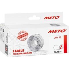 METO Etichetta per prezzo Permanente Larghezza etichette: 26 mm Altezza etichette: 12 mm Rosso 1 pz.