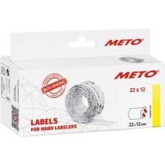 METO Etichetta per prezzo Staccabile Larghezza etichette: 22 mm Altezza etichette: 12 mm Bianco 1 pz.