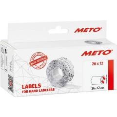 METO Etichetta per prezzo Permanente Larghezza etichette: 26 mm Altezza etichette: 12 mm Bianco 1 pz.
