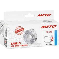 METO Etichetta per prezzo Permanente Larghezza etichette: 32 mm Altezza etichette: 19 mm Bianco 1 pz.