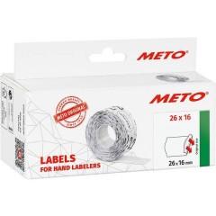 METO Etichetta per prezzo Permanente Larghezza etichette: 26 mm Altezza etichette: 16 mm Rosso 1 pz.