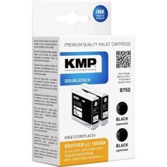 KMP Cartuccia dinchiostro Compatibile sostituisce Brother LC1000BK Conf 2 pz Nero, Nero B75D