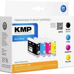 KMP Cartuccia dinchiostro Compatibile sostituisce Brother LC1000BK, LC1000C, LC1000M, LC1000Y Conf 4 pz Nero, ciano,
