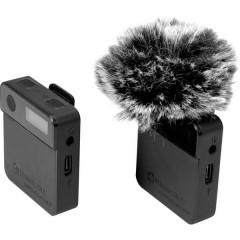 Relacart MIPASSPORT a clip Lavalier Microfono per telecamera Tipo di trasmissione:Senza fili (radio) incl. protezione