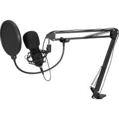 Omnitronic BMS-1C verticale Microfono USB Tipo di trasmissione:Cablato incl. ragno, incl. cavo, incl. stativo