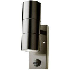 VT-7622PIR Lampada da parete per esterni a LED GU10 acciaio inox