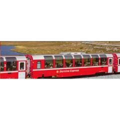 N Kit di vagoni da 3 pezzi Bernina Express, nuovo logo