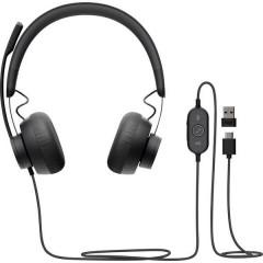 Zone 750 Cuffie Stereo USB Filo Cuffia Over Ear Grafite