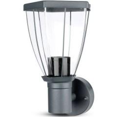 VT-835 Lampada da parete per esterni a LED E27 Nero opaco