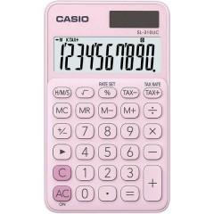 Calcolatrice tascabile Rosa Display (cifre): 10 a energia solare, a batteria (L x A x P) 70 x 8 x 118