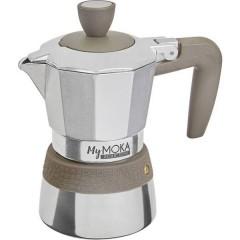 MyMoka Macchina per caffè espresso Grigio-Argento Capacità tazze=4