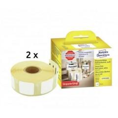 Rotolo di etichette 25 x 25 mm Pellicola Bianco 1 KIT Etichetta universale