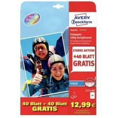 Carta fotografica DIN A4 200 g/m² 1 KIT Super lucida