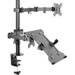 SP-MM-302 1 pezzo Supporto per monitor 33,0 cm (13) - 81,3 cm (32) Inclinabile + girevole,