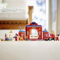 LEGO® DISNEY Stazione dei vigili del fuoco e auto dei vigili del fuoco di Micky