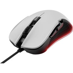 GXT 922W YBAR USB, Cablato Mouse da gioco Ottico Illuminato Bianco/Nero, RGB