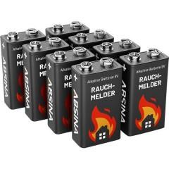 Batteria da 9 V Alcalina/manganese 9 V 8 pz.