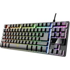 GXT833 THADO TKL USB, Cablato Tastiera da gioco Illuminato, pulsanti multimedia Inglese, QWERTY Nero, RGB