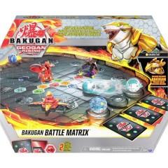 Bakugan Battle Matrix Geogan Rising, campo di gioco scomponibile con esclusivo Aurelus Sharktar